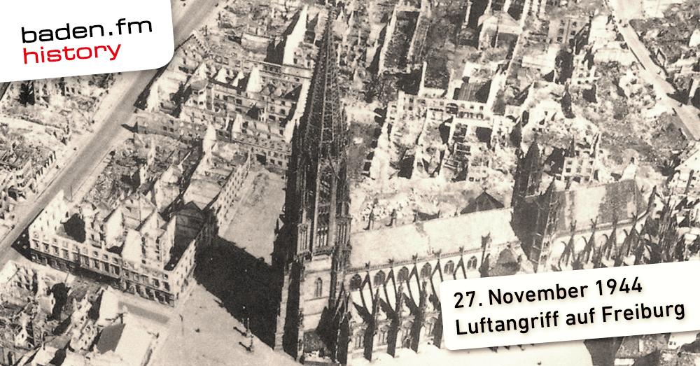 Freiburg nach dem Luftangriff im November 1944