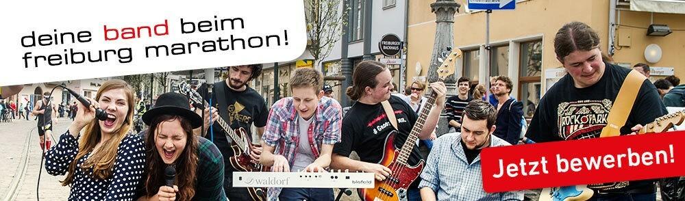 Jetzt für den Freiburg Marathon 2018 mit deiner Band bewerben
