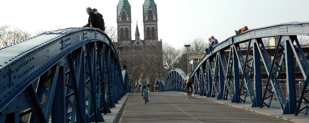 Wiwili-Brücke, Blaue Brücke, Freiburg, © Pixabay
