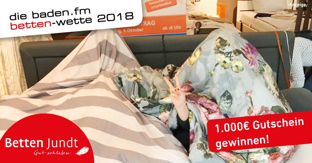 Die baden.fm Betten-Wette aus Emmendingen.