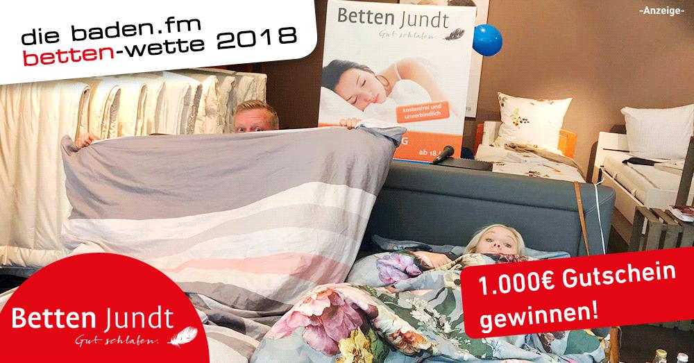 Die baden.fm Bettenwette aus Emmendingen bei Betten Jundt
