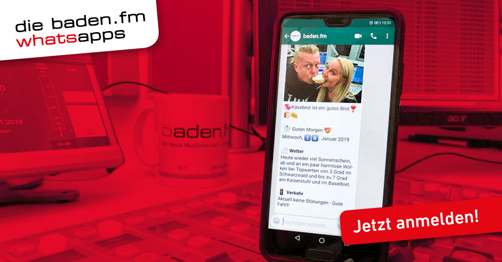 Die baden.fm WhatsApps - jetzt Newsletter abonnieren.