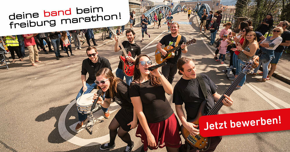 Bewerbung Freiburg Marathon 2018 Bands, © FWTM-Baschi Bender