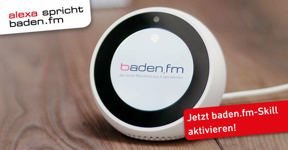 Der neue baden.fm Alexa Skill für alle Amazon Echo und Show Geräte