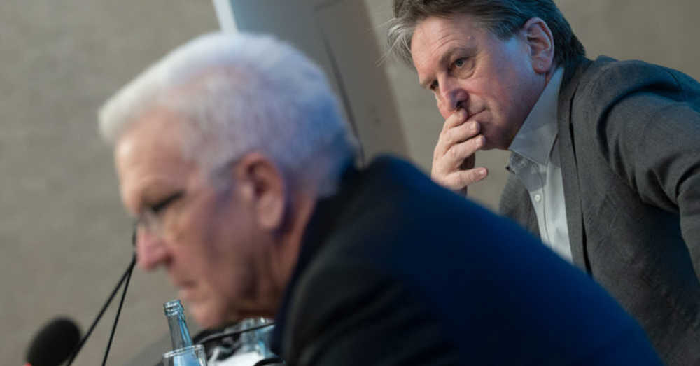 Manne Lucha, Gesundheitsminister, Baden-Württemberg, Winfried Kretschmann, Ministerpräsident, © Marijan Murat - dpa