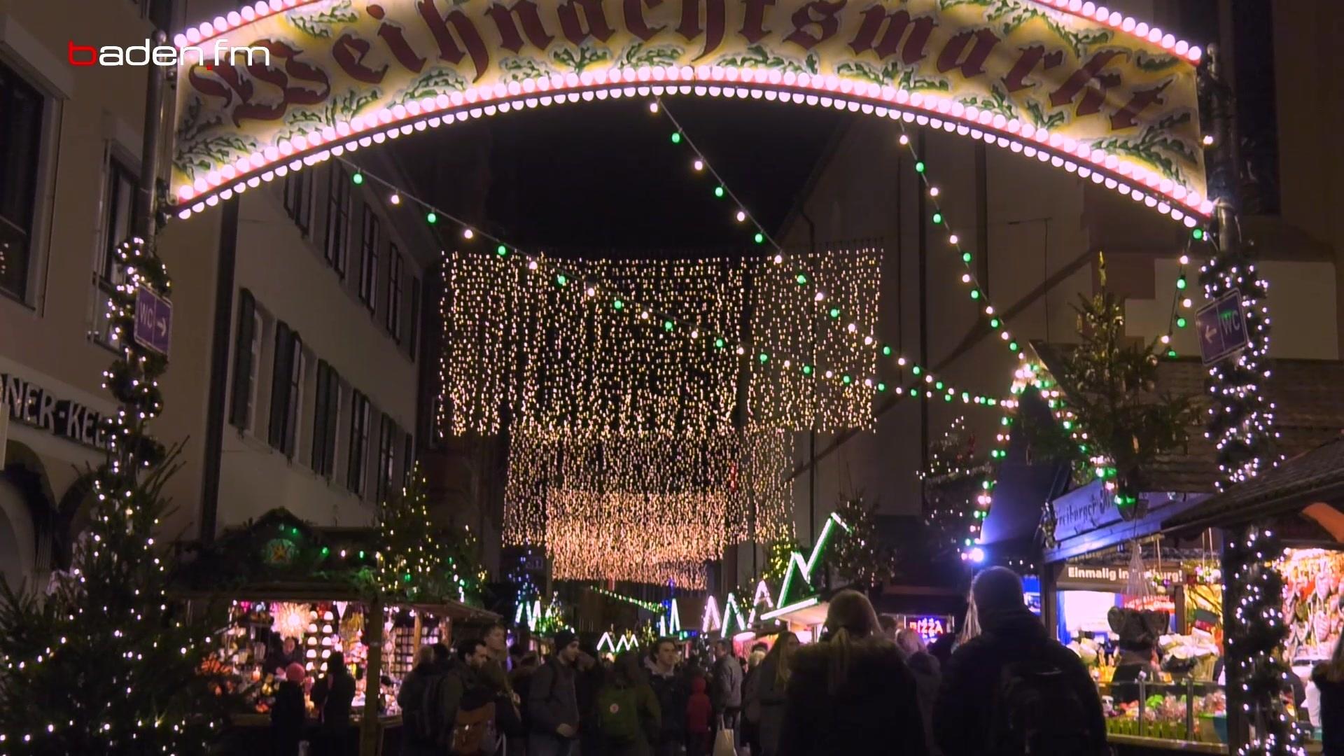 Weihnachtsmarkt Gundelfingen.Freiburger Weihnachtsmarkt Feierlich Eröffnet Baden Fm