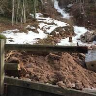Überflutungen in Menzenschwand im Schwarzwald nach Regenfällen