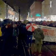 Demonstration, Demo, AfD, Gegendemo, Freiburg