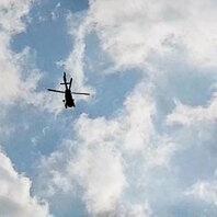 Hubschrauber, Polizei, Waldkirch, Banküberfall
