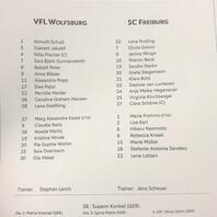 Aufstellung, SC Freiburg, Frauen, Fußball, DFB-Pokal, Finale