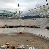 Stadion, SC Freiburg, Baustelle, Wolfswinkel