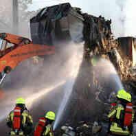 Feuerwehr, Malterdingen, Großbrand, Feuer, Einsatz, Gewerbegebiet, Recycling, Bauschutt, Schrottplatz
