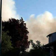 Rauchwolke, Feuerwehr, Rauch, Großbrand, Hurter, Recyclingbetrieb, Malterdingen