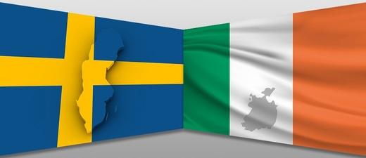Flagge Schweden Irland