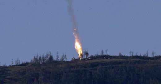 Kampfjet abgeschossen, Türkei, Russland, Syrien, , © dpa / Haberturk TV Channel
