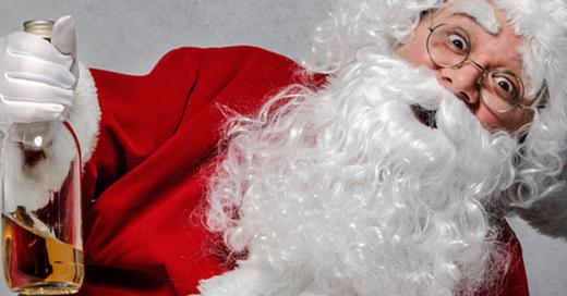 Weihnachtsmann, besoffen, Alkohol, © fotolia-Alexander Raths