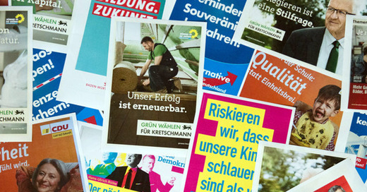 Landtagswahl, Wahlplakate, © Marijan Murat - dpa