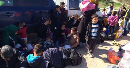 Flüchtlinge auf Lesbos, © Christoph Rive