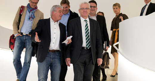 Winfried Kretschmann, Thomas Strobl, CDU, Grüne, © Deniz Calagan - dpa