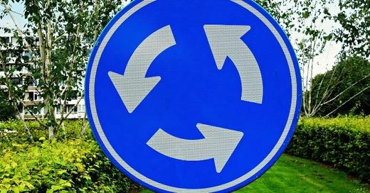 Kreisverkehr, Rondell, © Pixabay