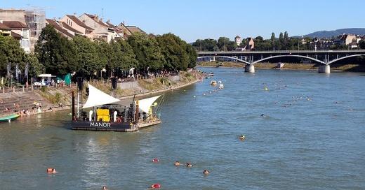 Rhein, Schwimmen, Basel, © Pixabay