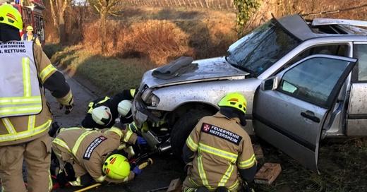 Betberg, Feuerwehr, Unfall, Heitersheim, © Polizeipräsidium Freiburg
