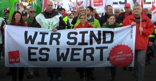 Warnstreik, Demo, ver.di, © baden.fm