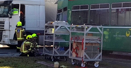 Straßenbahn, Tram, Basel, Unfall, © Kantonspolizei Basel-Stadt
