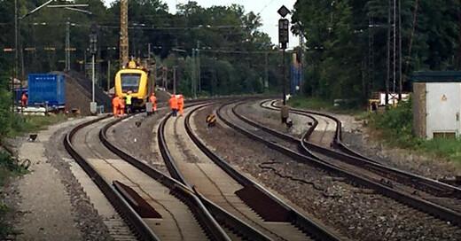 Riegel, Oberleitungsschaden, Bahnhof, © baden.fm