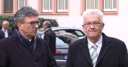 Winfried Kretschmann und Dieter Salomon in Freiburg, © baden.fm
