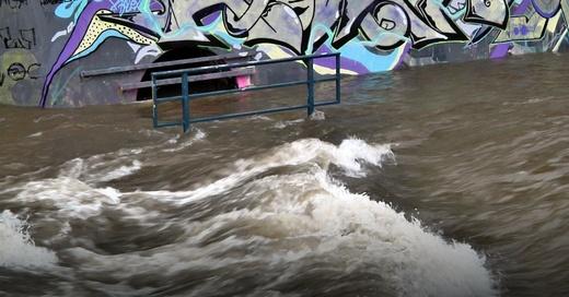 Hochwasser, Dreisam, Freiburg, Überflutung, © baden.fm