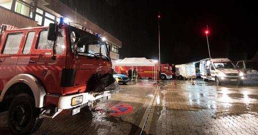 Unwetter, Hochwasser, Schwarzwald, Feuerwehr, THW, © Patrick Seeger - dpa