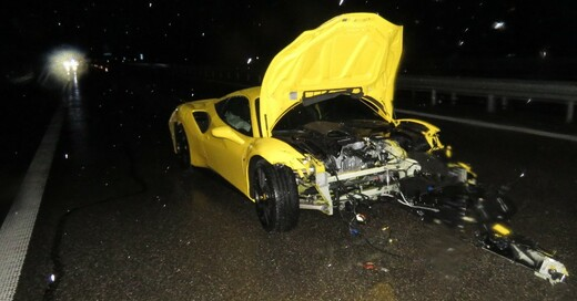 Ferrari, Unfall, A5, © Polizeipräsidium Freiburg