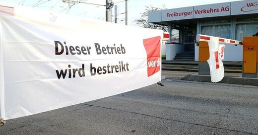 Ver.di, Warnstreik, VAG, Freiburger Verkehrs AG, © baden.fm