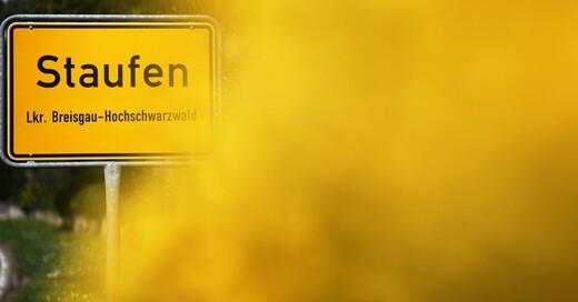 Staufen, Breisgau, Ortsschild, © Patrick Seeger - dpa (Symbolbild)