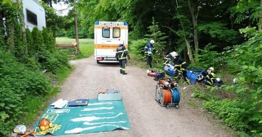 Feuerwehr, Schopfheim, Unfall, © Polizeipräsidium Freiburg