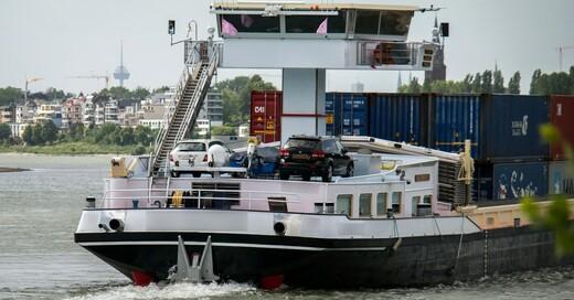Container, Rhein, Schiff, Fluss, © Pixabay (Symbolbild)