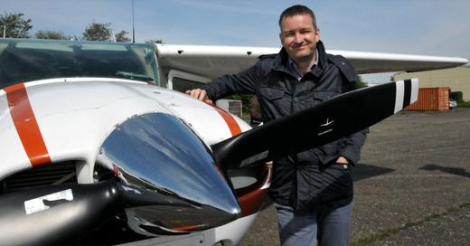 Hagelflieger, Flugzeug, Pilot, © Frank Kasparek - Badischer Weinbauverband