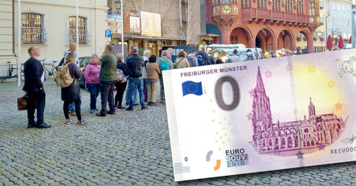 Null-Euro-Schein, Geldschein. Münster, © baden.fm / Better Service Freiburg UG