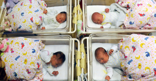 Geburt, Babys, Kinder, © Waltraud Grubitzsch - dpa (Symbolbild)