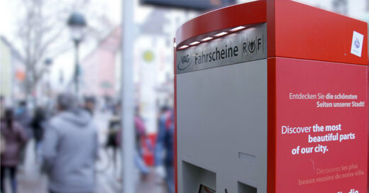 Fahrscheinautomat, Bertolsbrunnen, VAG, © baden.fm (Symbolbild)