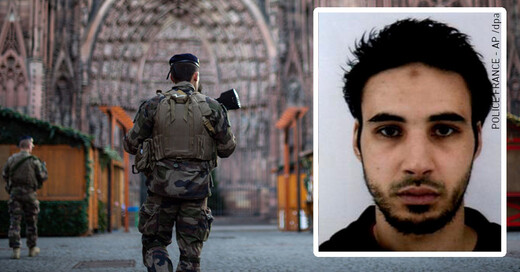 Straßburg, Cherif C., Gesuchter, Terror, © Sebastian Gollnow - dpa / Police France