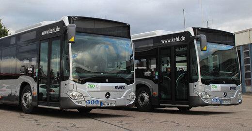 Busse, Linienbusse, Kehl, SWEG, © Südwestdeutsche Landesverkehrs-AG