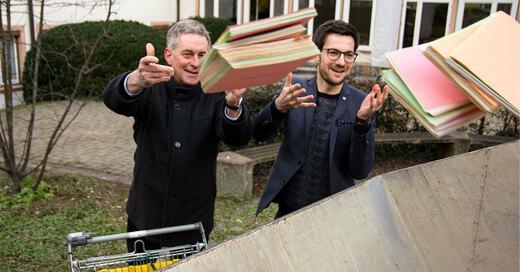 E-Akte, Oberbürgermeister, Martin Horn, Finanzbürgermeister, Stefan Breiter, © Stadt Freiburg