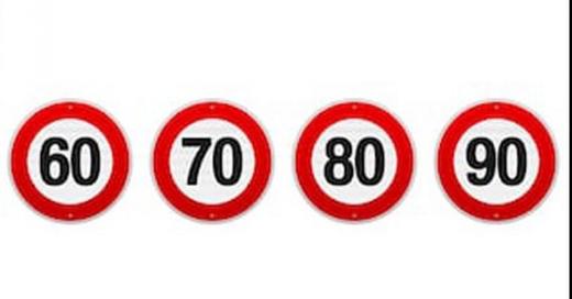 Verkehrsschild, Tempolimit, 50, 60 ,70, 80, © Symbolbild Pixabay