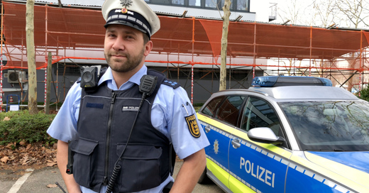 Polizei, Bodycam, Uniform, Kamera, © baden.fm
