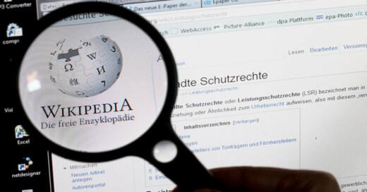 Wikipedia, Internet, Enzyklopädie, © dpa (Symbolbild)