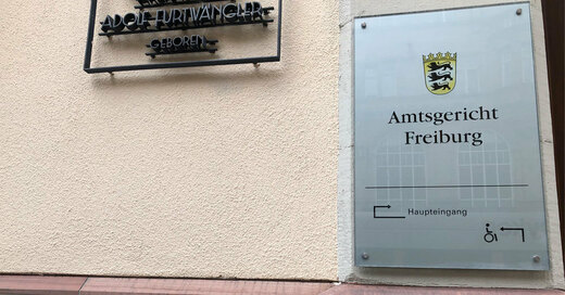 Amtsgericht Freiburg, Haupteingang, © baden.fm (Symbolbild)