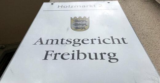 Amtsgericht Freiburg, Schild, © baden.fm (Symbolbild)