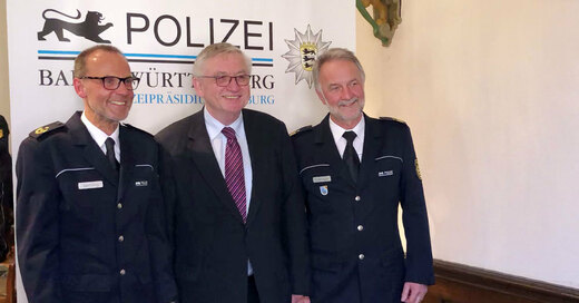 Polizeipräsident, Bernhard Rotzinger, Franz Semling, © baden.fm